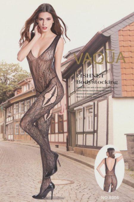 Ολόσωμη Sexy Φόρμα Με Δαντέλα Και Βαθύ V