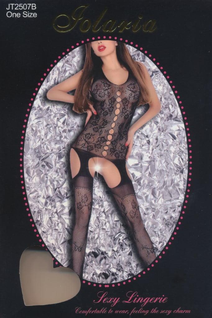 Ολόσωμη Sexy Φόρμα Με Δαντέλα Και Χωρίς Μανίκια